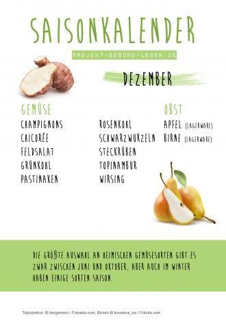 Saisonkalender 12 Dezember Projekt Gesund leben