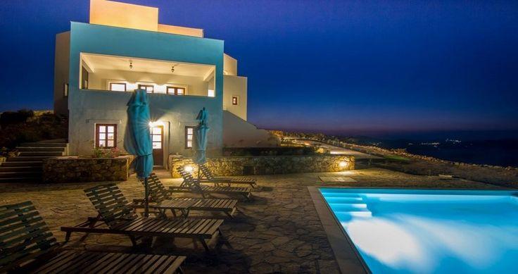 "Any aficionados of Midnight Baths ? Check ""Villa Sophias"" - Patmos, Greece ! You can rent it ! #luxury #villa #rent #holidays #greece #vacances #grece #alouer #aroomwithaview #sea #bedroom #decoration #swimmingpool #beautiful"