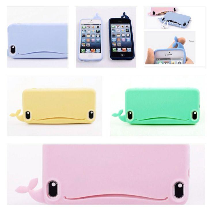 Fun iPhone 4 & 5 whale phone cases..