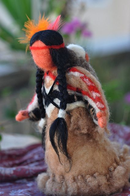 Needle felted Native American 3-Soft sculpture-Waldorf inspired standing doll | Flickr - Photo Sharing!