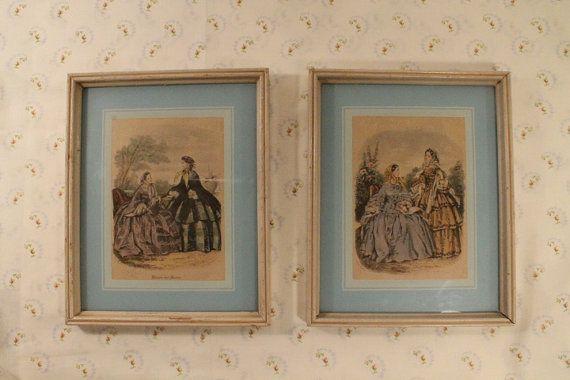 75% OFF SALE:  Framed Dress Print Antique by ClockworkRummage