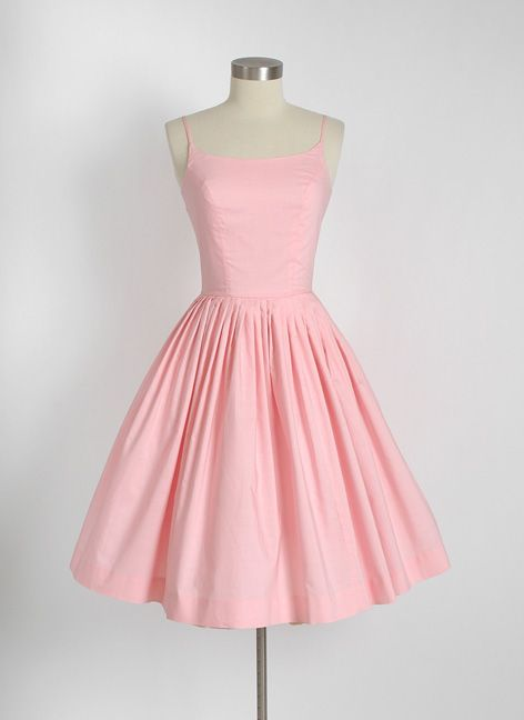 HEMLOCK VINTAGE CLOTHING : 1950's Bobbie Brooks Pink Cotton Dress