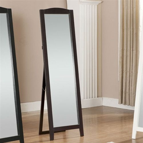 Functional classic full length leaning floor mirror with for Black floor length mirror