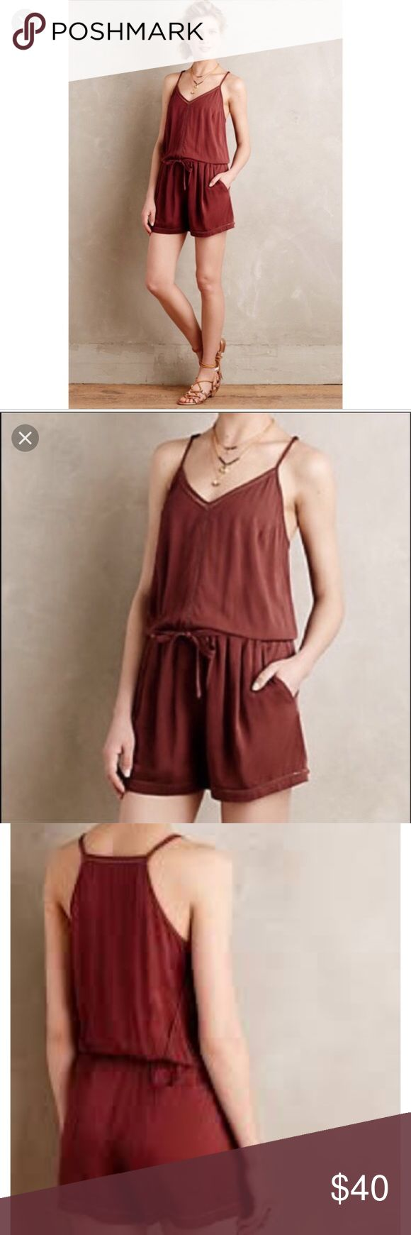 Anthropologie . Lilka. Dressy Romper Worn a few times and in like new condition. Cute romper to dress up or down. No marks or stains on this garment. Anthropologie Pants Jumpsuits & Rompers