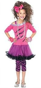 80s Pink Rock Star Costume for Girls