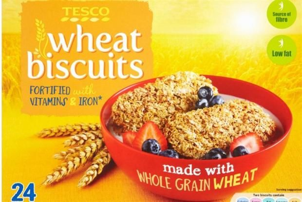 Wheat Biscuits: one of the own-brand cereals Tesco is supplying to Magic Breakfast