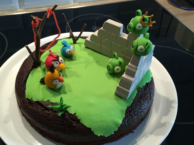 cake angry birds birthdayboy 8y anniversaire garon 8ans lescakesdemel - Gateau Anniversaire Garon 8 Ans