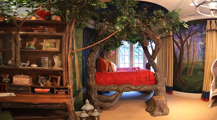 more Narnia inspiration! To be a kid in this room would have been awesome!