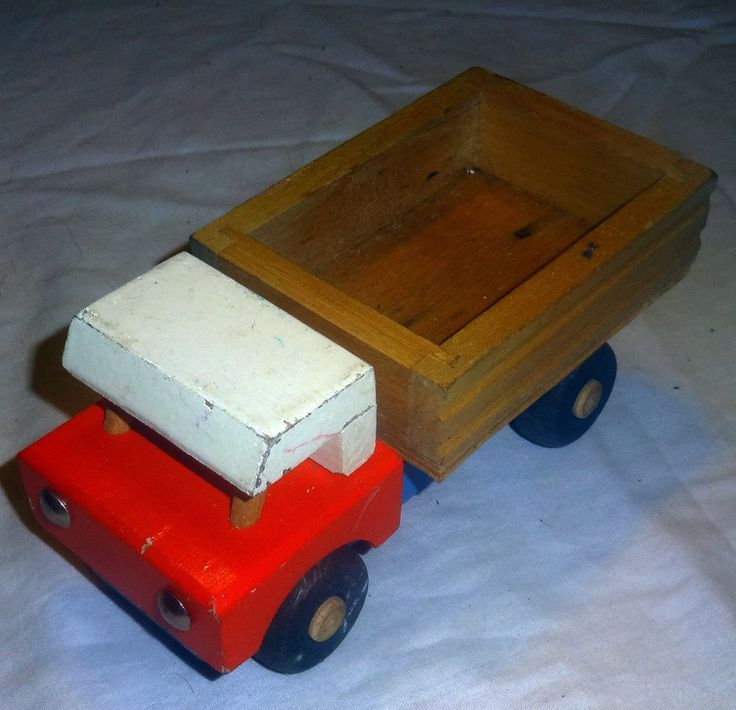Vintage HANDCRAFTED WOODEN TOY TRUCK  Model Hand Made hand painted!! #Handmade