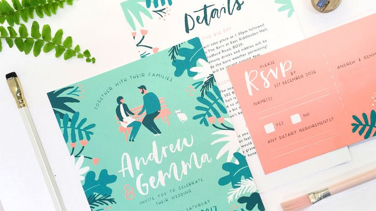 Modern and unique bespoke wedding stationery for style savvy couples.