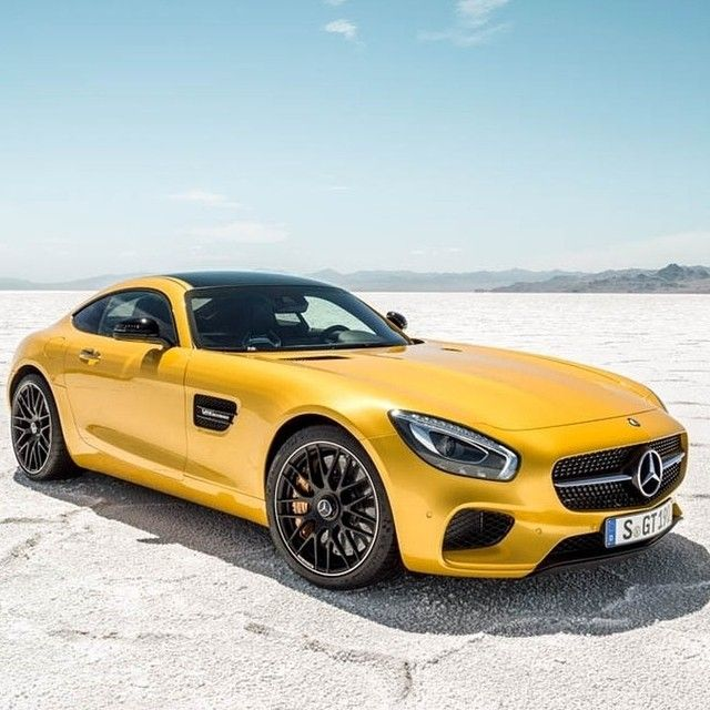 Yellow Mercedes