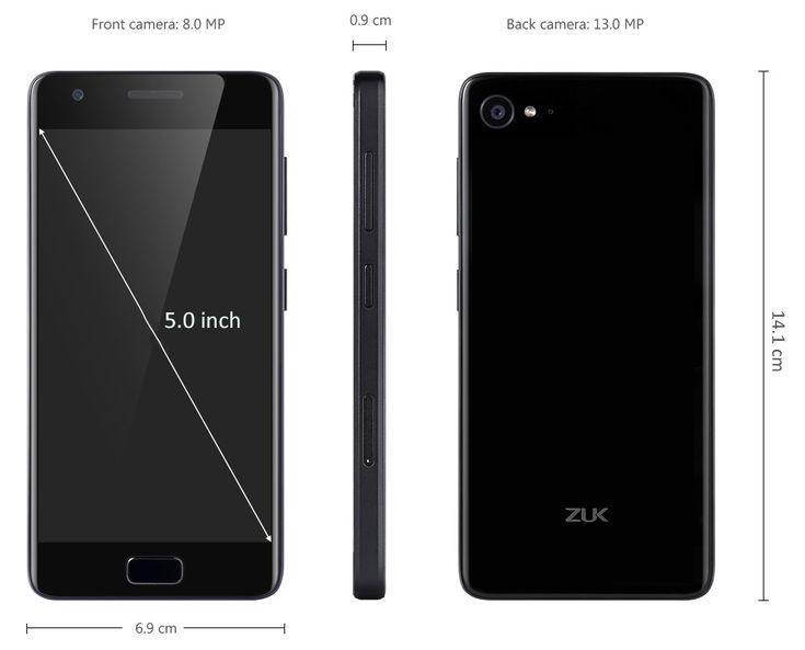 Lenovo ZUK Z2 64GB ROM 4G Smartphone  Купон: ZUKGSA $173.99 Android 6,0 Snapdragon 820 + 13 Мпикс 8MP камеры