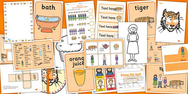 The Tiger Who Came to Tea Story Sack Resource Pack - The Tiger Who Came to Tea…