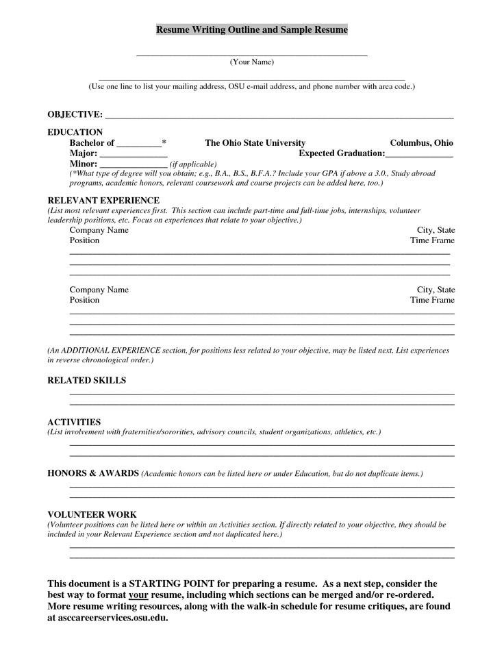 resume outline tips