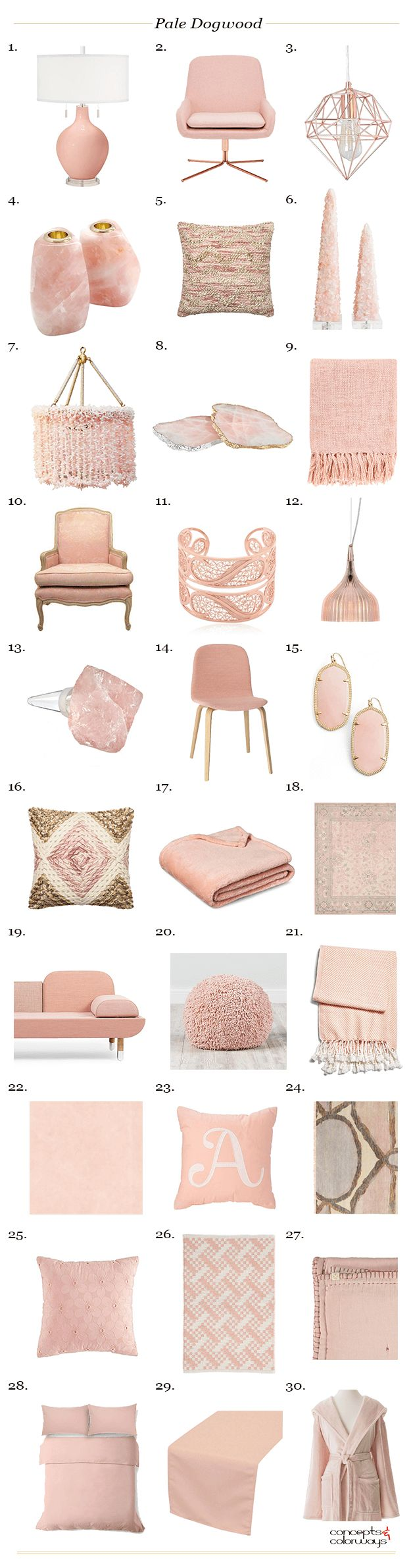 pantone pale dogwood interior design product roundup