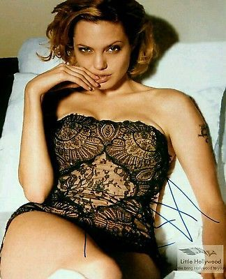 ANGELINA-JOLIE-Super-Sexy-8x10-Autographed-RP-lustre-Photo
