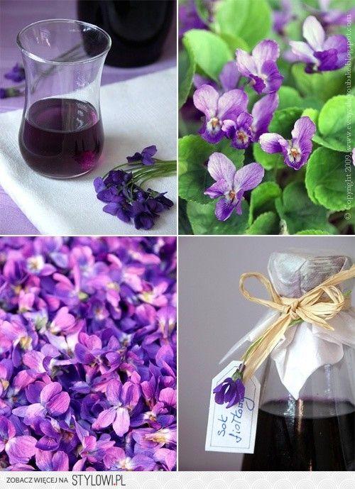 Sok fiołkowy: około 20 dkg kwiatu fiołka, 1 l wody, ok… na Stylowi.pl