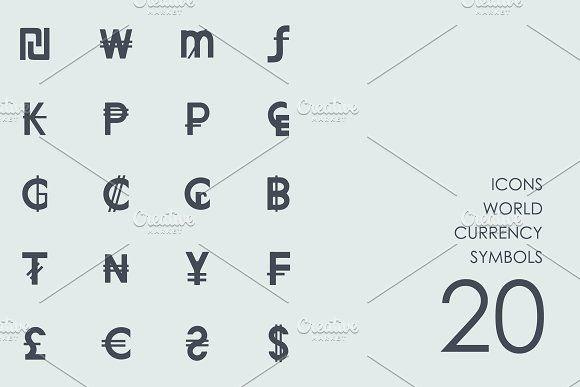 World currency symbols icons by Palau on @creativemarket