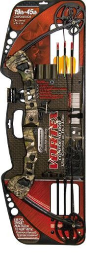 Barnett Vortex Youth Bow A lightweight compound bow offering the same high-quality design and function as larger bows, but in a smaller package to accommodate first-time shooters. Draw weights from 19