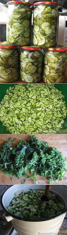 Салат из огурцов на зиму «Зимний король» (стерилизация не требуется)