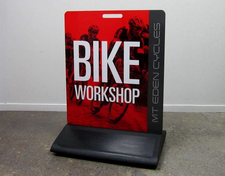 Sandwich Board Sing for Bike Workshop by Speedy Signs Newton