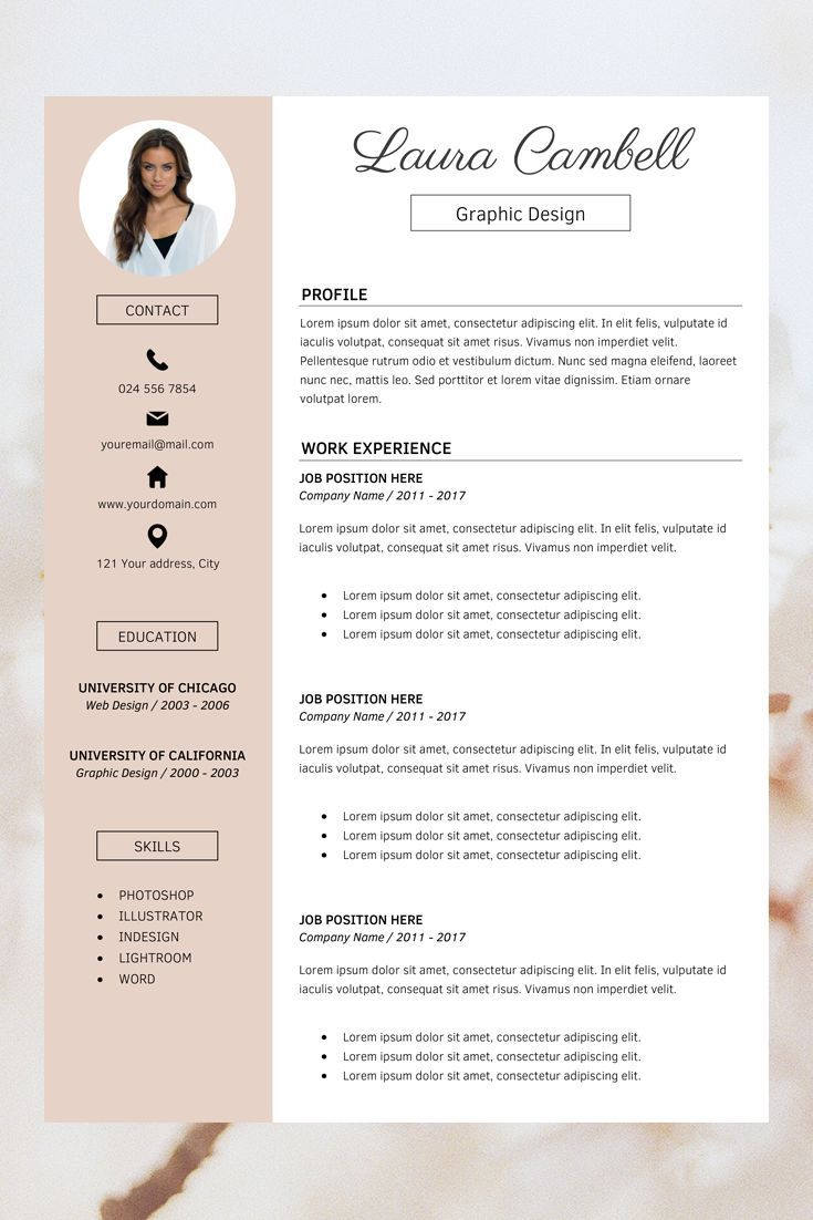Modern Resume Template Cv Template For Ms Word Professional Resume Design Resume Res Resume Design Template Cv Template Word Resume Design Professional