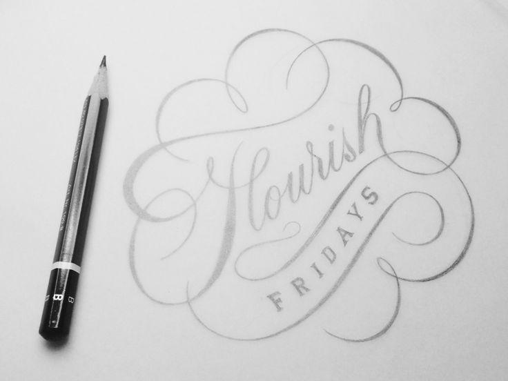 80 best typography sketch lettering images on pinterest hand flourish fridays by drew melton altavistaventures Image collections