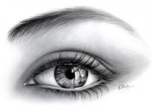 Dibujos a lápiz de ojos (14)