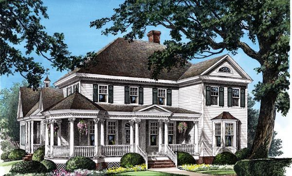 Colonial farmhouse southern victorian house plan 86280 for Historic colonial house plans