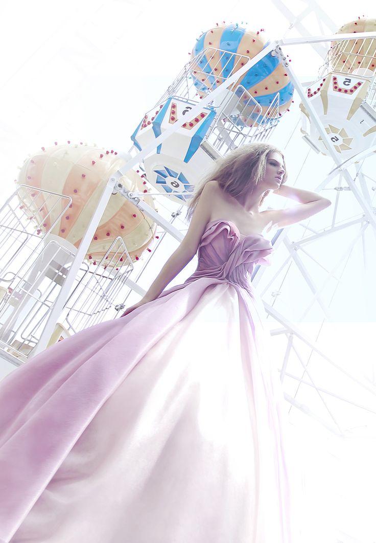 Pink strapless ballgown | Z Wedding Design