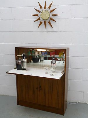 Bon Retro Vintage 50s 60s Cocktail Drinks Cabinet Home Bar Danish Eames G Plan  Era