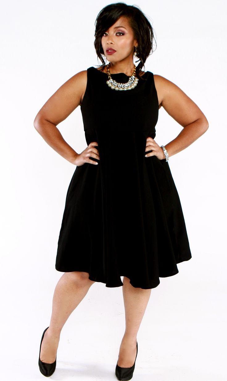 Designer plus size black tie dresses