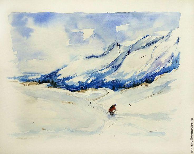 Купить Снежные вершины - синий, горы, горный пейзаж, горные лыжи, спортивный…