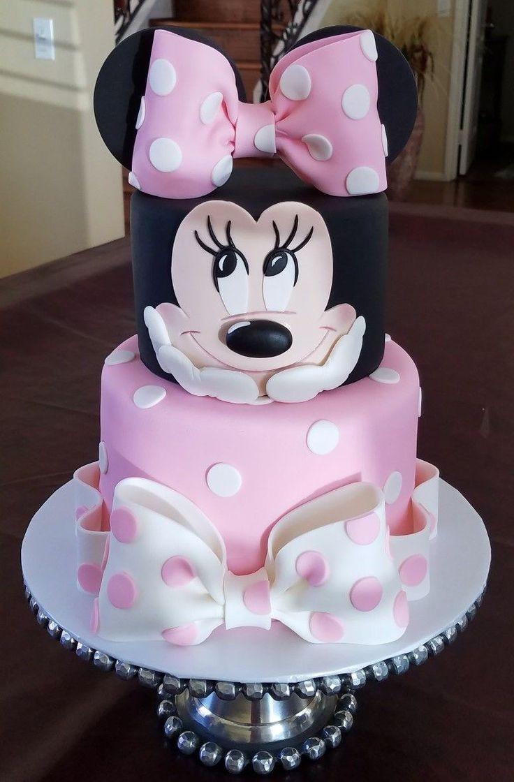 25+ Brillantes Bild von Minnie Birthday Cake. Minnie Geburtstagstorte Minnie Maus …   – Mädchentorten