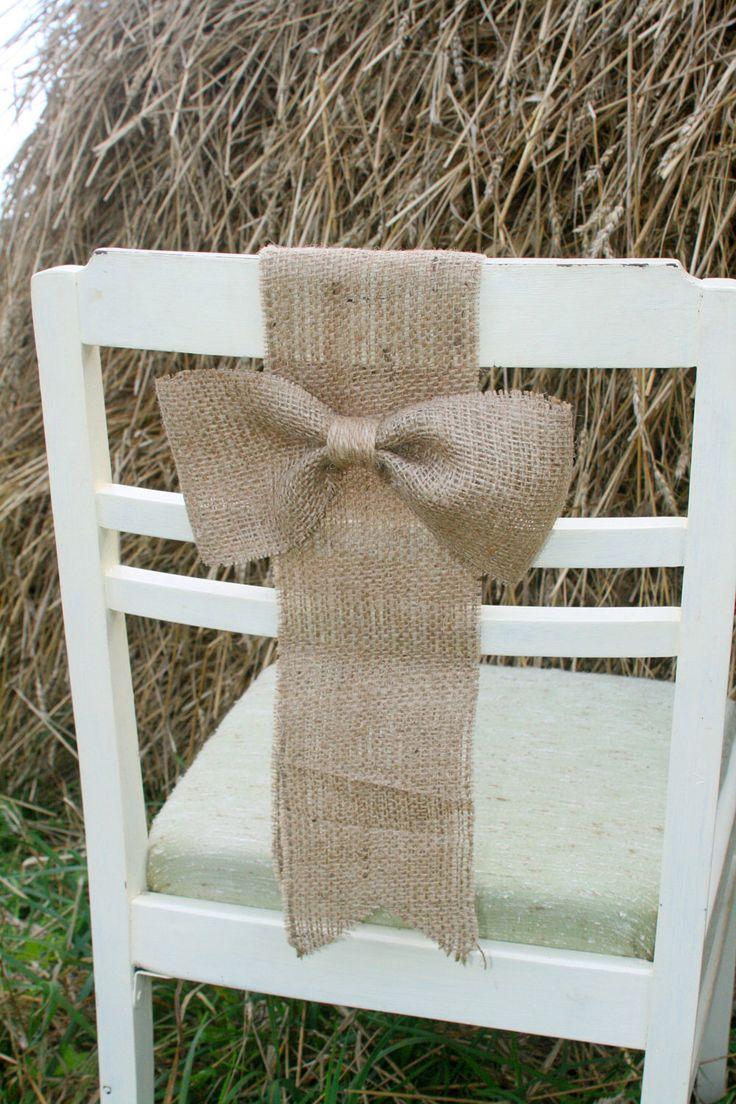 Burlap Chair Sash Rustic Wedding DecorationsBurlap