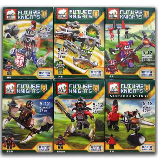 LEGO ELEPHANT JX 1023 Minifigure Nexo Knights 2016 ( 6 Pcs )