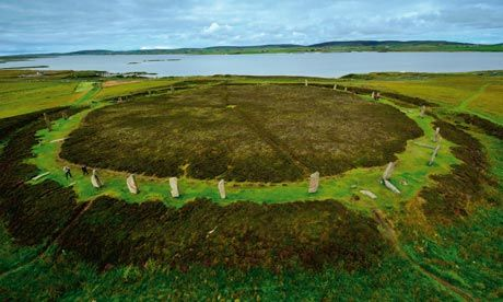 Circle of life: the Ring of Brodgar – a stone circle, or henge – is a World Heritage Site. Photograph: Adam Stanford