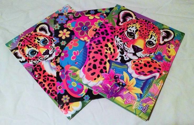 Vintage Lisa Frank Lot Of 3 3 Ring Binder Folders Good Used Condition Hunter #LisaFrank