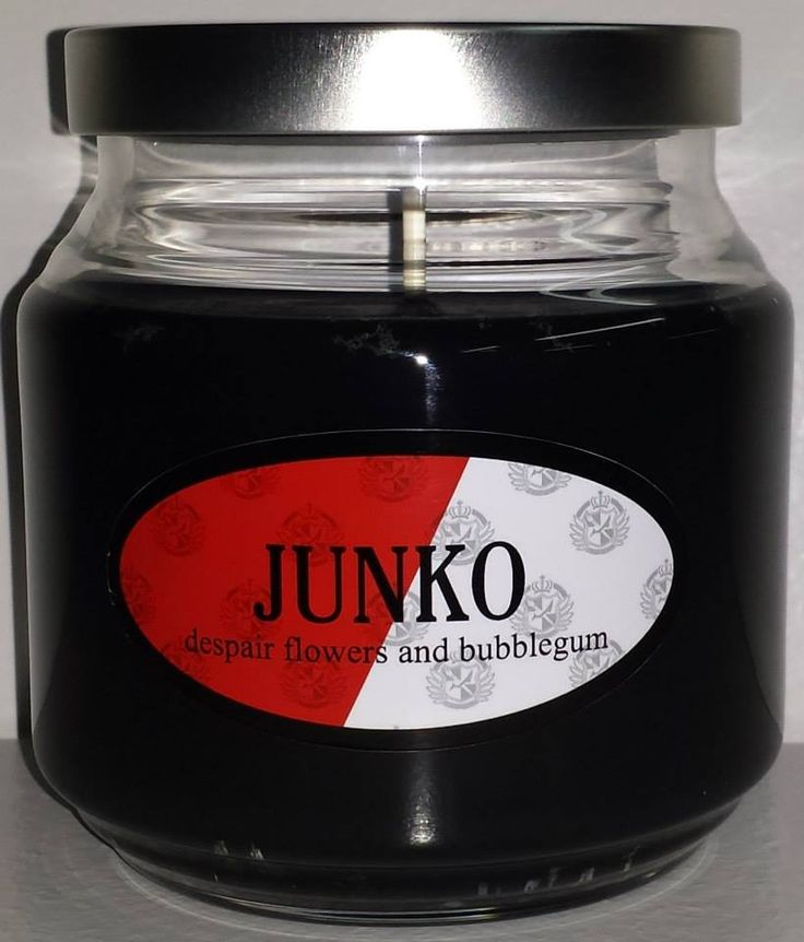 Junko Enoshima inspired candle from the anime and game Danganronpa.
