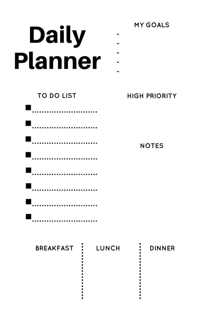 17 Best Ideas About Monthly Planner Template On Pinterest
