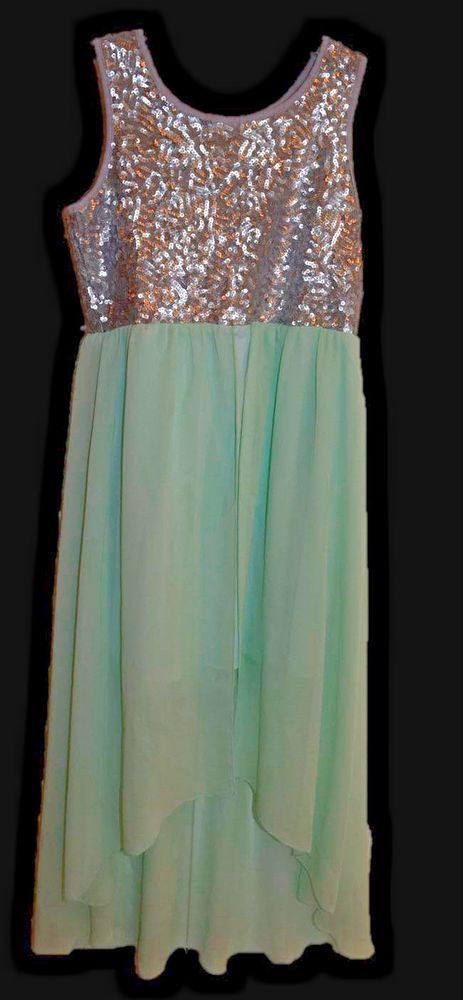 Roxette Nordstrom Girls Green Mint Silver Sequin Party Dress Size L Large js    Clothing, Shoes & Accessories, Kids' Clothing, Shoes & Accs, Girls' Clothing (Sizes 4 & Up)   eBay!