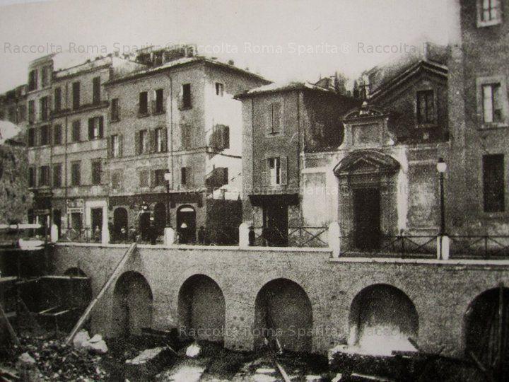 la demolita chiesa di San Urbano ai Pantani in Via Alessandrina Anno:1930 ca