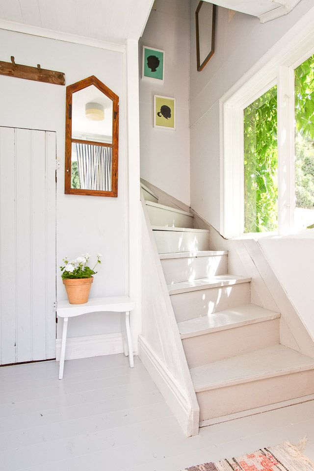 torp, swedish summer home, stairs