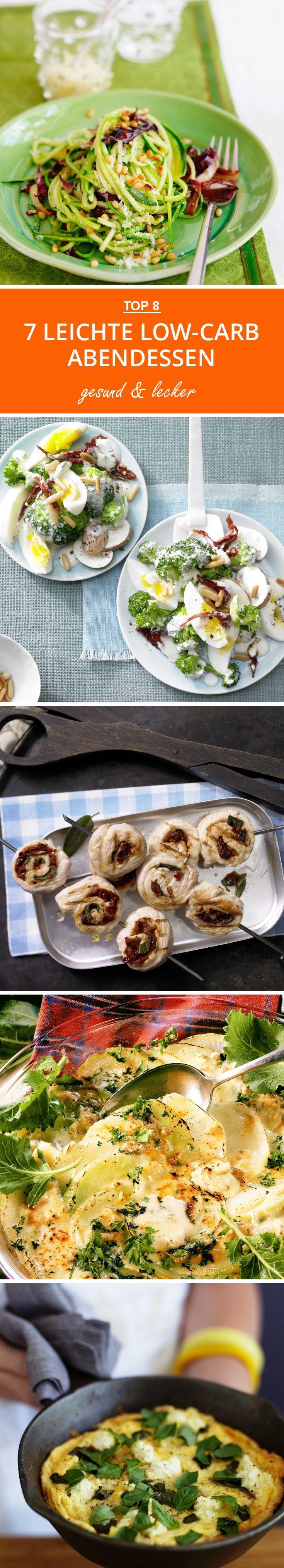 7 leichte Low-Carb Abendessen - jede Woche neue Rezepte unter diesem Link!