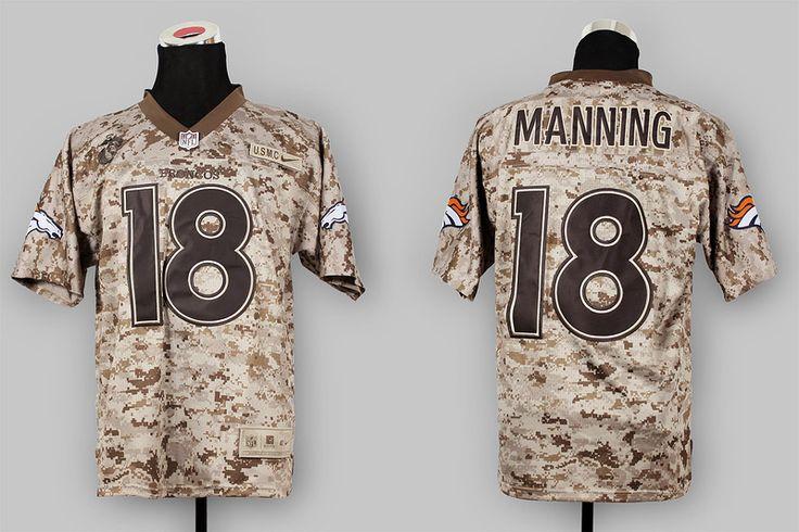 Nike NFL Jerseys Denver Broncos 18 Peyton Manning New Camo US.Mcc ...