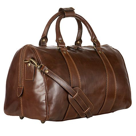Buy John Lewis Made in Italy Leather Holdall, Brown Online at johnlewis.com £150