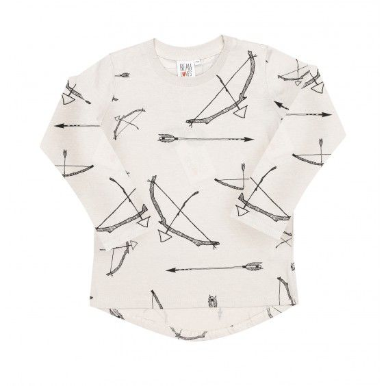 Beau Loves Fin Tee Bows & Arrows - Grey - Beau Loves - Shop by Brand - Ragamuffins New Zealand