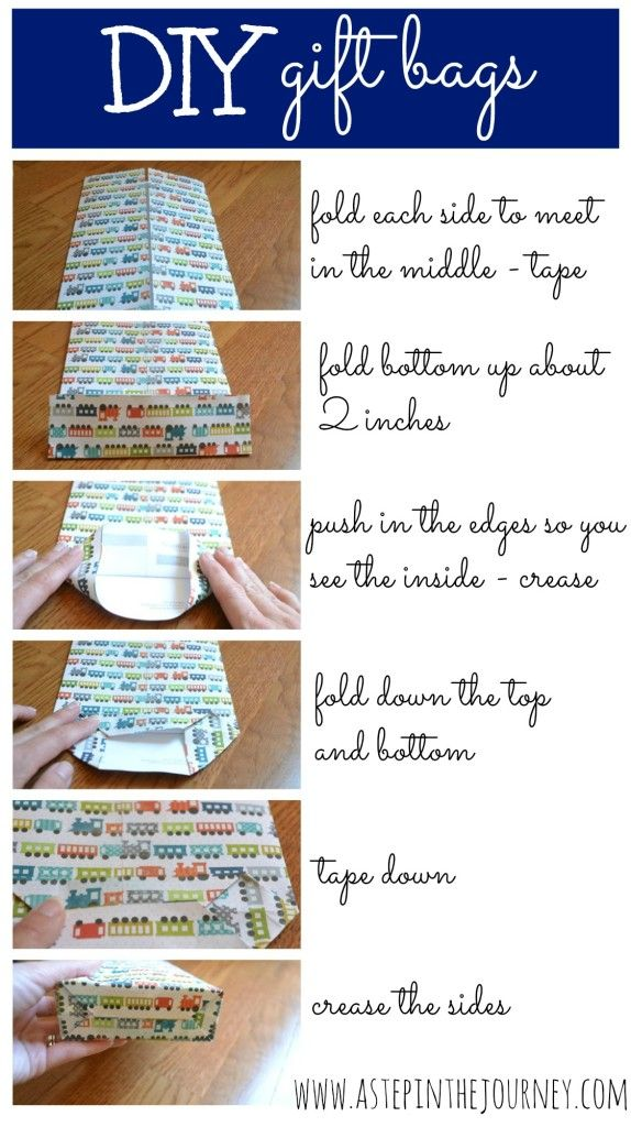 DIY gift bag directions
