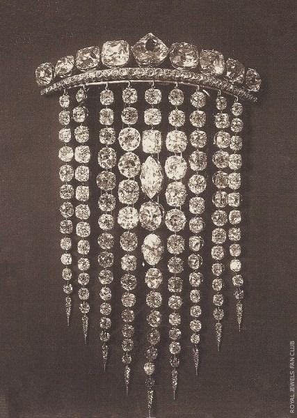 Empress Eugenie's Diamond Hair comb, 1885.