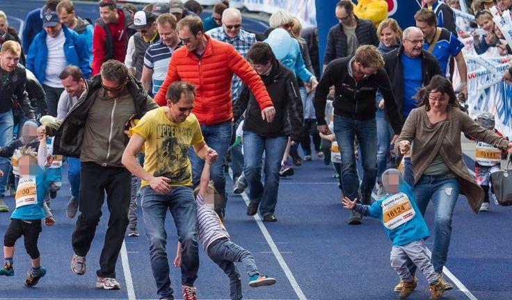 Dabeisein ist alles? Von wegen: Vielen Eltern geht es nur um den Sieg ihrer Kinder. Beim Linzer Juniormarathon zogen einige ihre heulenden Schützlinge über die Ziellinie.